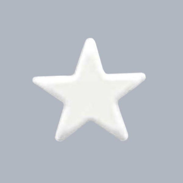 Декоративное украшение из натурального шоколада 13699 Белоснежная звезда