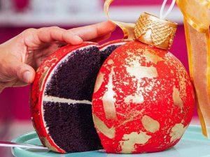 Форма силиконовая SFERA_Маленький торт Новогодние