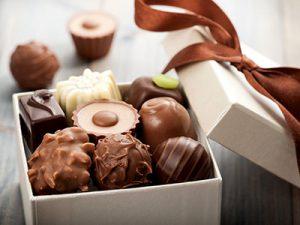 Шоколадные конфеты в подарочной упаковке