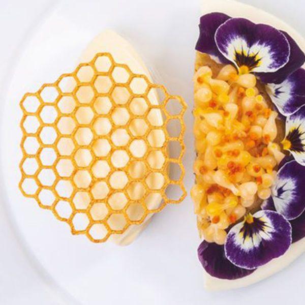 Форма силиконовая для десертов 67.5×60.5 h2 GG047 HONEYCOMB Медовые соты_1
