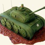 Торт Танк из мастики_зеленый 8-новость