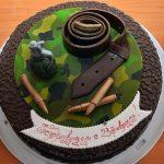 Торт с декоршоком камуфляж-новость