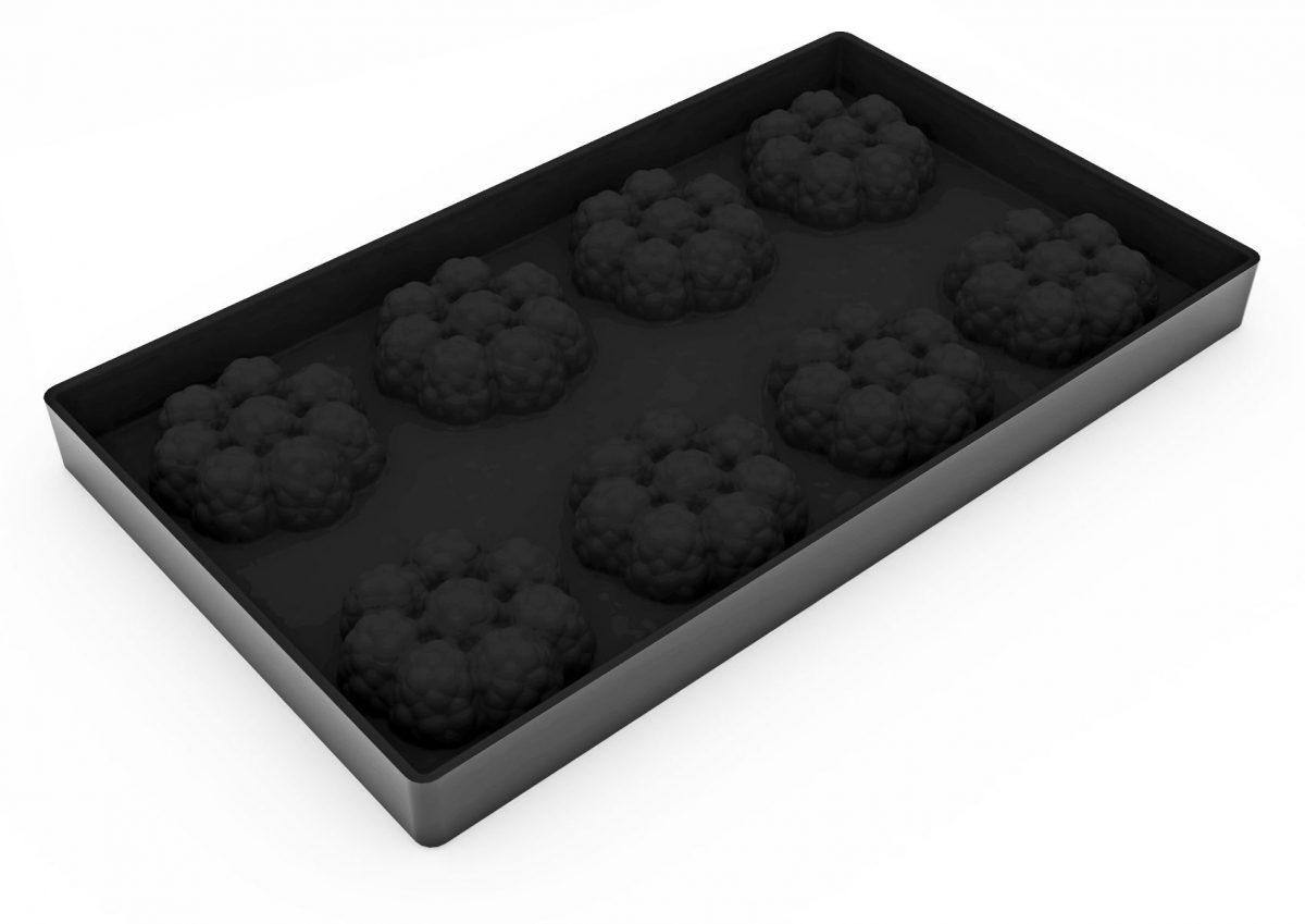 Форма силиконовая для муссовых изделий d60 h23 TOP20 ЕЖЕВИЧНАЯ мини_форма1
