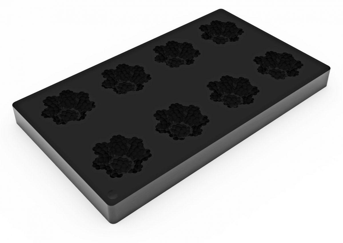 Форма силиконовая для муссовых изделий d60 h23 TOP20 ЕЖЕВИЧНАЯ мини_форма2