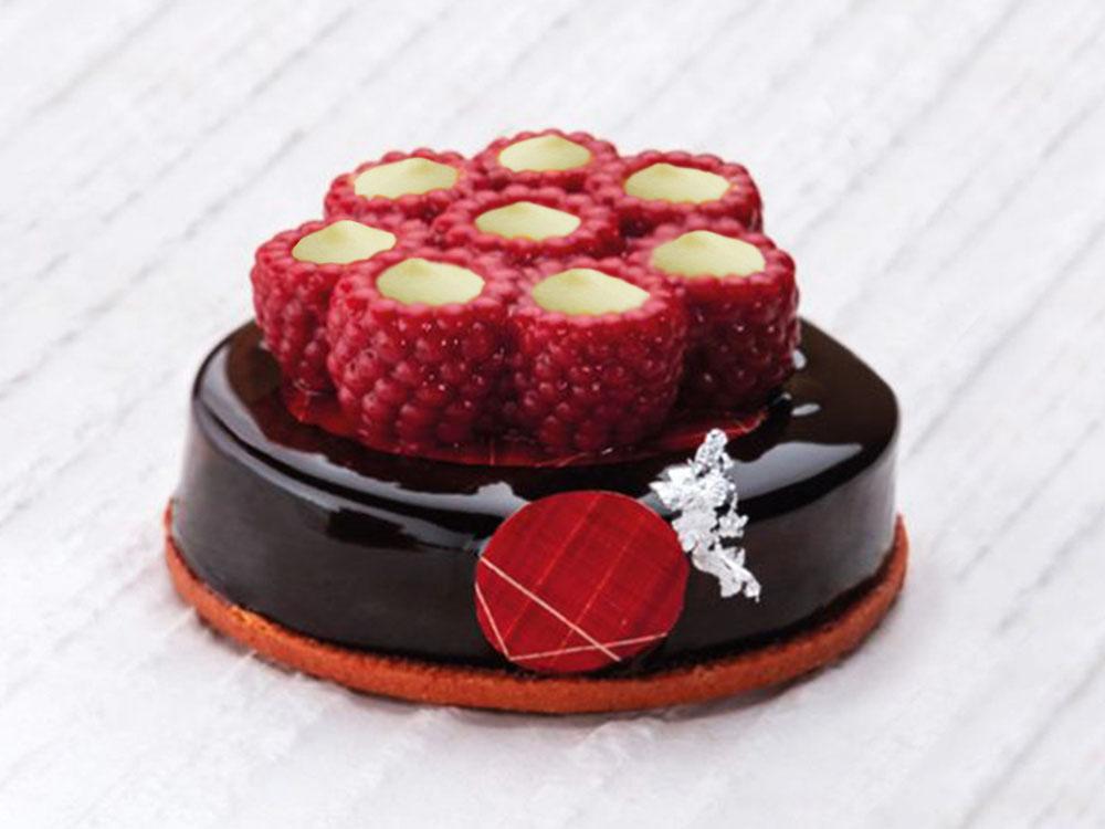 Форма силиконовая для муссовых изделий d62 h21 TOP23 RASPBERRY mini_десерт