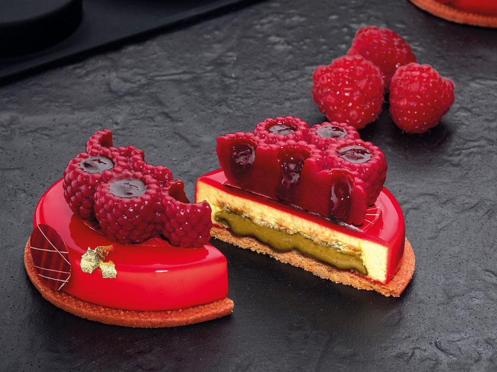 Форма силиконовая для муссовых изделий d62 h21 TOP23 RASPBERRY mini_десерты