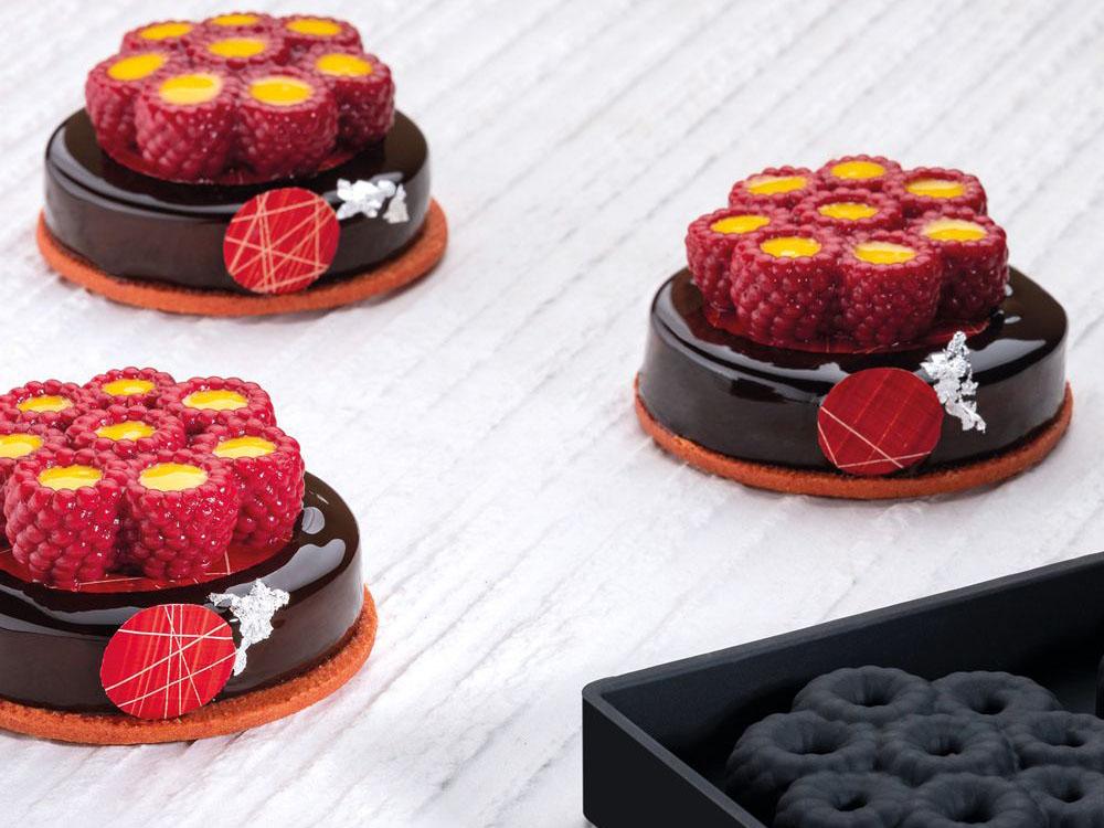Форма силиконовая для муссовых изделий d62 h21 TOP23 RASPBERRY mini_десерты1