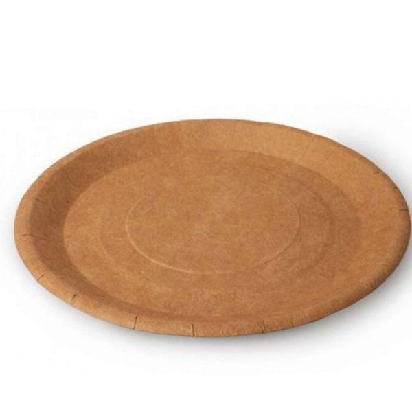Бумажные тарелки d180 ECO PLATE 180 Крафт 100шт