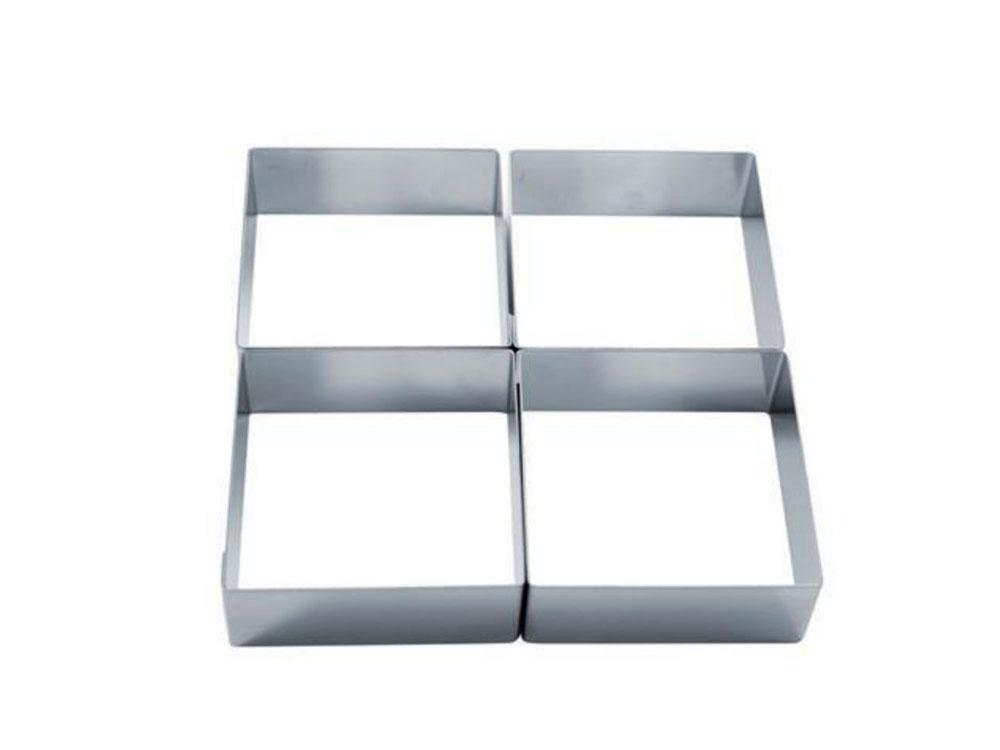 Форма для тарты модульная из нержавеющей стали 204x204 h40 38H4X22S Четыре вкуса