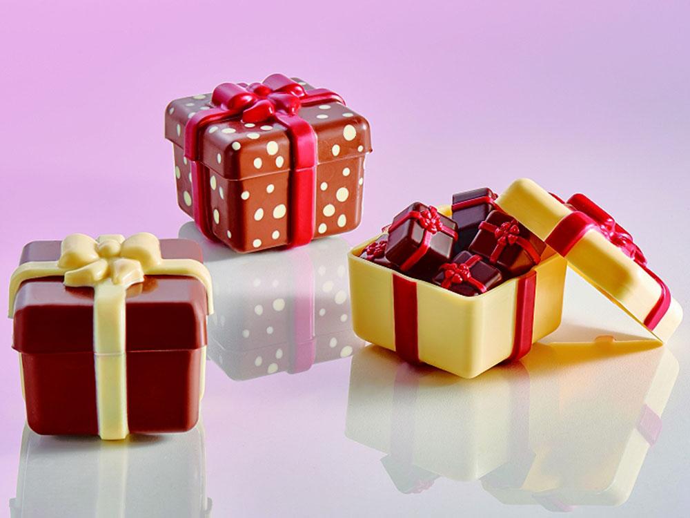 Форма для шоколада 80x80 h69 20PR01 Шоколадная коробочка подарок