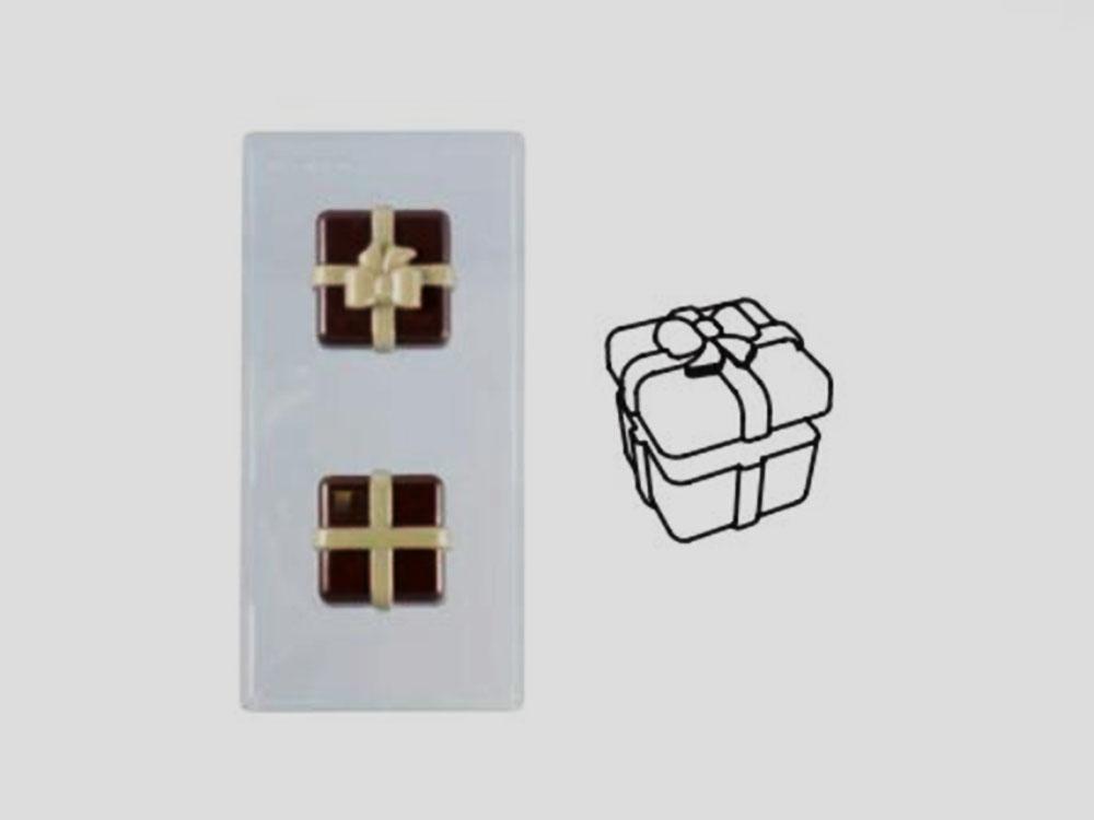 Форма для шоколада 80x80 h69 20PR01 Шоколадный подарок_форма