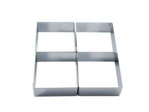 Форма для тарты модульная из нержавеющей стали 204x204 h40 38H4X22S Четыре вкуса_новость