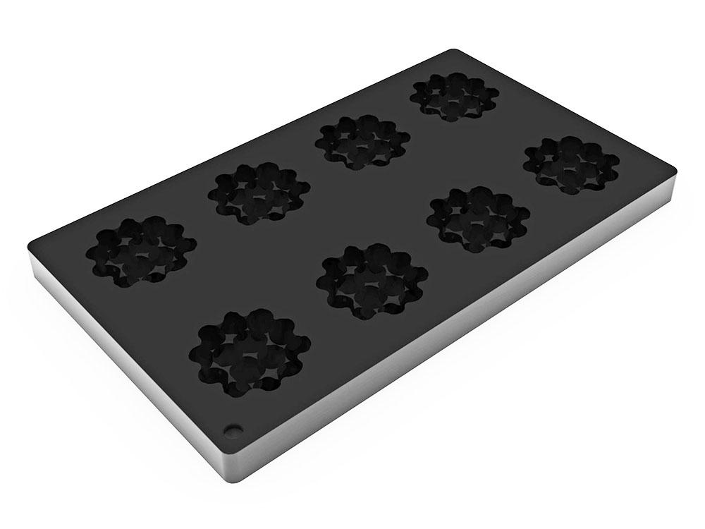 Форма силиконовая для муссовых изделий d60 h18 TOP21 HAZELNUT mini ЛЕСНОЙ ОРЕХ мини_3