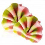 Декор из натурального шоколада 78006 Веер розово-зеленый мини_новость