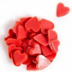 Декор из натурального шоколада 78412 посыпка Сердечки красные_новость