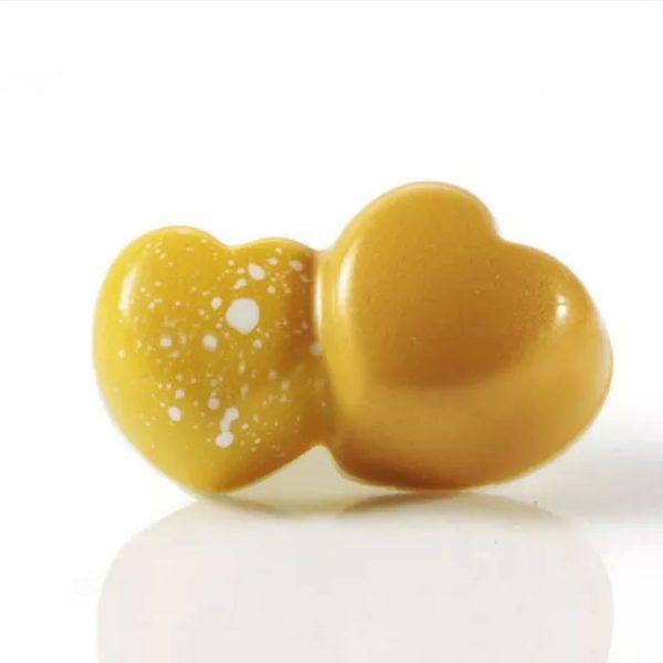 Форма для конфет 43x26 h16 MA4012 DOUBLE HEARTS Двойные сердечки
