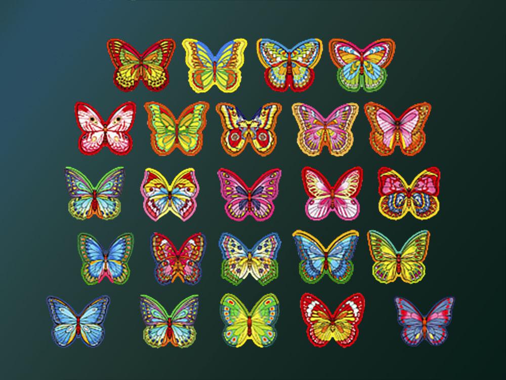 Вафельный декор Бабочки цветные с рисунком (180 штук) hk27232