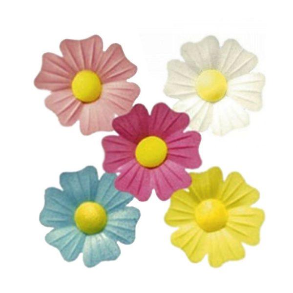 Вафельный декор Цветы шиповника d45 mm (200 штук) ip9313